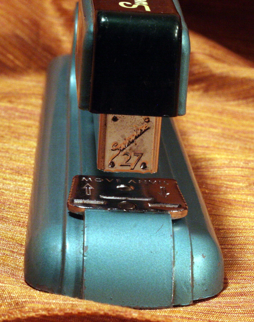 IMG 7332 Stapler of the Week: 1950s School Green and Teal Swingline Model 27