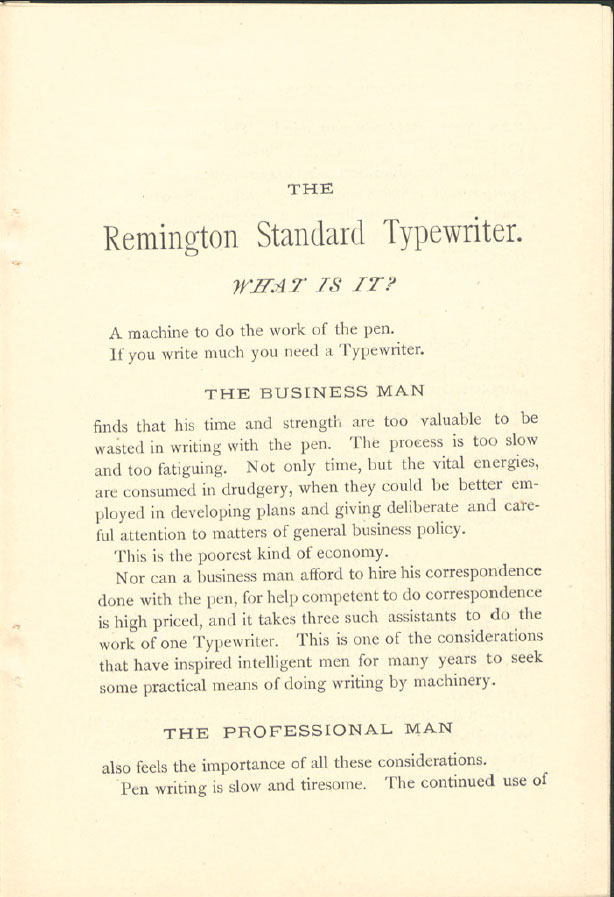 wsb 011 Wyckoff, Seamans & Benedict pull out the stops to sell you a Remington. The Year? 1884