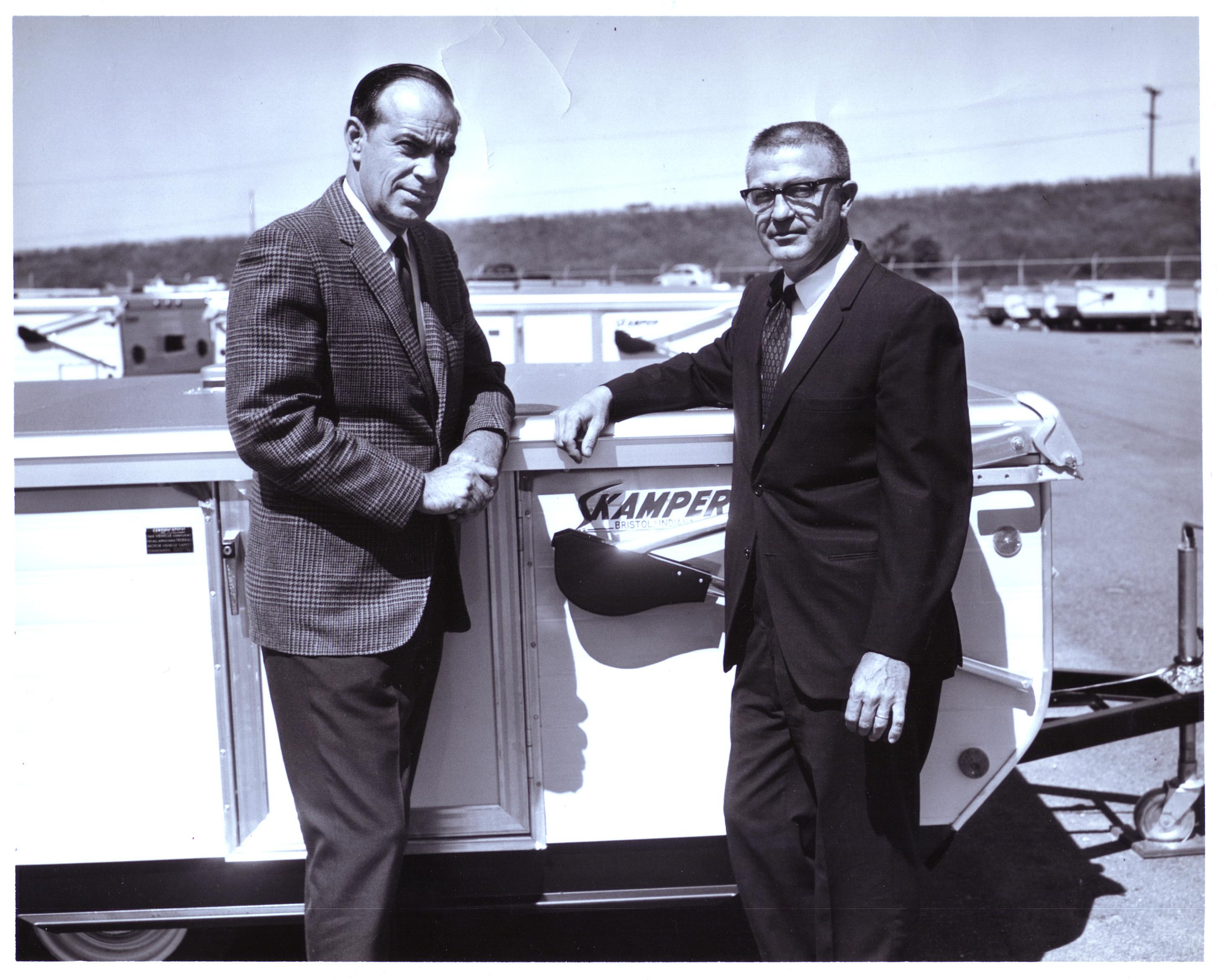 Joe in his later civilian years, selling Skampers to Yankees.