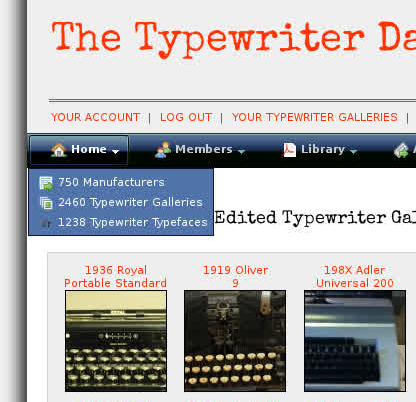 twdb ss Typewriter Database News