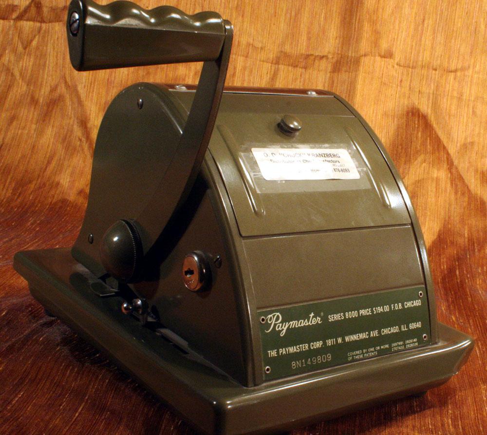 Paymaster Series 8000 Ribbon Writer #8N149809