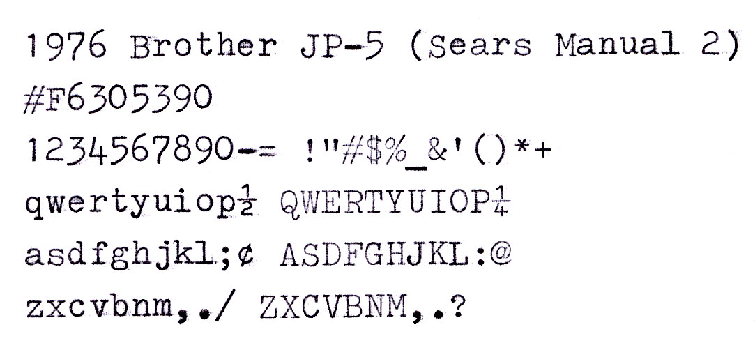 jp 5typesample 3 Brother Hunt: JP 5 Found in the Wild, Again!