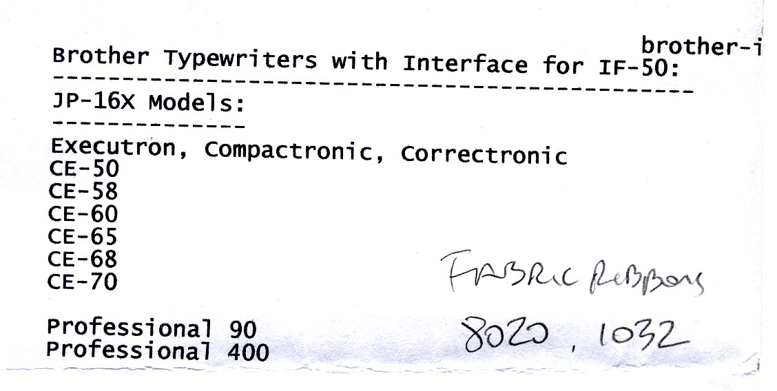 2014 12 03 g Thrift Gods Hear My Plea: Brother Professional 90 and IF 50 Computer Interface